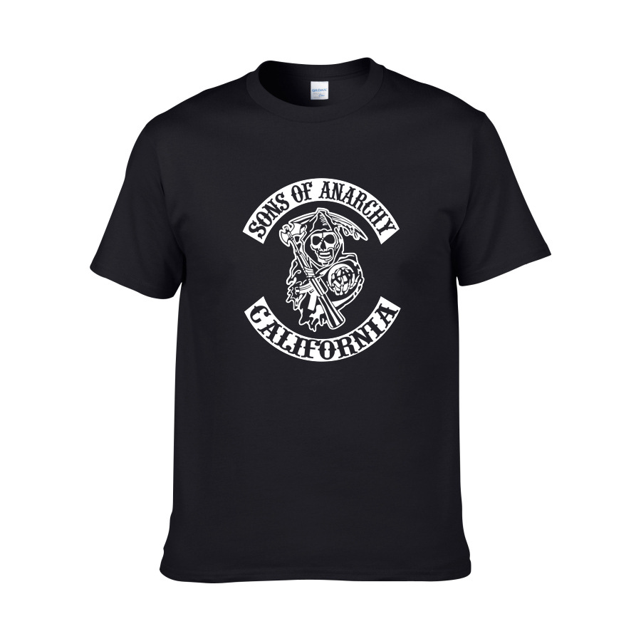 2019 New Arrival  Sons of Anarchy Spring Summer Fashion Short-sleeved T-shirt  Mens Womens Casual Cotton Tops Costume