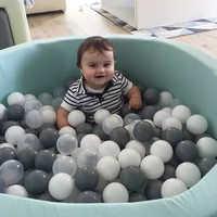 100 unids/set bebé pelota Anti estrés Bola océano Bolas de plástico para piscina Bola Pit orbes de juego al aire libre juguetes Balon para los niños de la bola