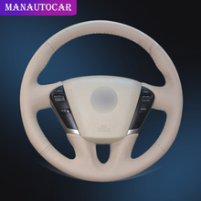 Car Braid On The Steering Wheel Cover for Nissan Teana 2008-2012 Murano 2009-2014 Quest 2011-2017 Interior Auto Car-styling