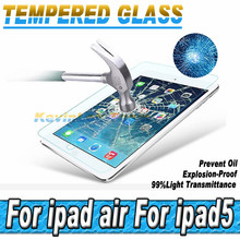 5pcs/lot 0.26MM Tempered Glass Screen Protector Protective Film For Apple IPad 5 6 Toughened Glass Screen Guard For IPad Air 2
