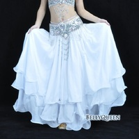High Quality Oriental Belly Dance Skirt 3 Layers Chiffon Women Stage Performance Belly Dance Costumes