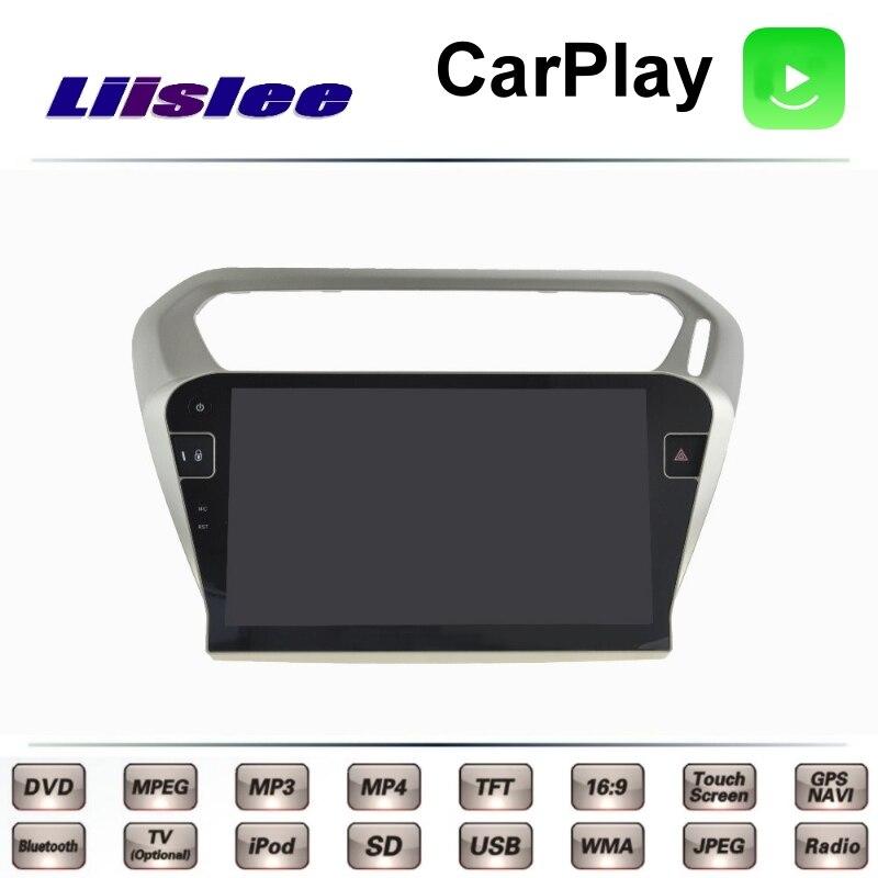 Pour Peugeot 301 citroën c-elysee 2012 ~ 2017 LiisLee voiture multimédia TV DVD GPS Radio Carplay Style Original Navigation Navi