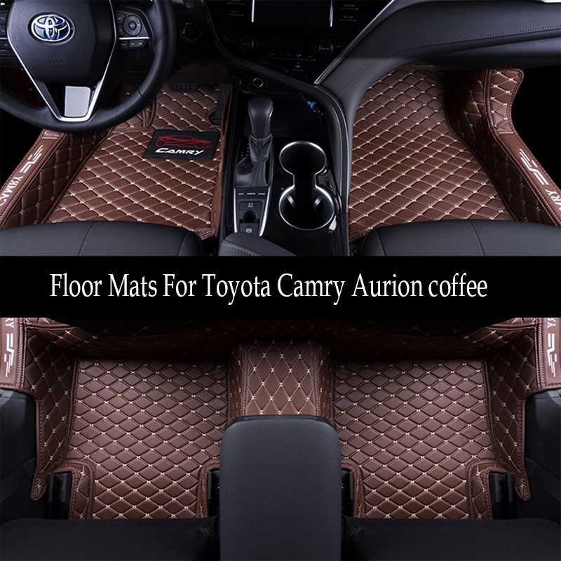 Car Floor Mats For Toyota Camry Aurion 2018 2019 Foot Carpets pad mat Step Embroidery Leather Interior Mats heavy duty carpet цена