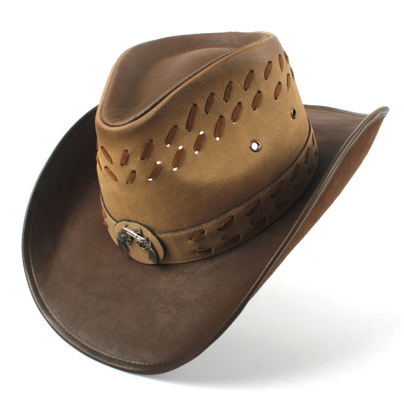 Western Leather Cowboy Hats for Women & Men 24