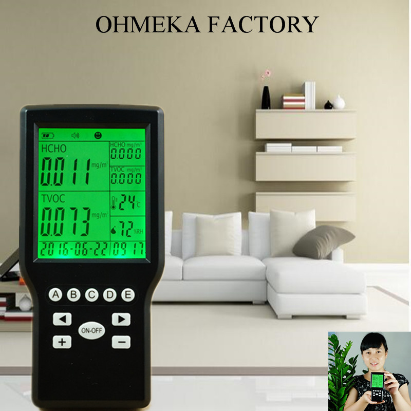free shipping Gas Reading Manufacturer Home Depot Indoor Air Quality Monitor From OHMEKA digital indoor air quality carbon dioxide meter temperature rh humidity twa stel display 99 points made in taiwan co2 monitor