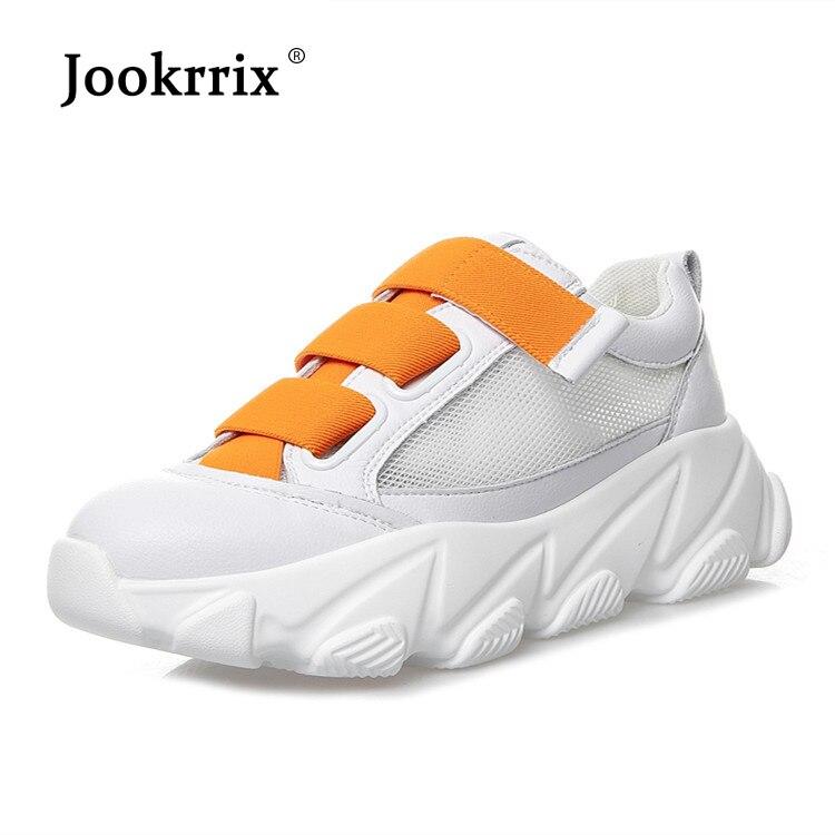 Jookrrix femmes blanc Chunky baskets pour femme chaussures de course décontractées pour les femmes augmenté 5 cm chaussures noir baskets chaussures dame