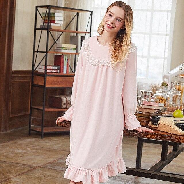 SpaRogerss Princess Velvet Nightgown Winter 2017 Retro Royal Style ...