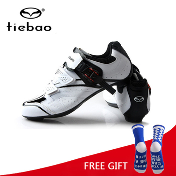 Tiebao Professional Men Cycling Shoes Outdoor Sports Racing Athletic Shoes Breathable Road Bike Bicycle Self-Locking Shoes