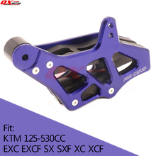 цена CNC Chain Guide Chain Guard For 125-530 KTM EXC EXCF SX SXF XC XCF XCF-W XCW 08-15 Motocross Enduro Supermoto Free shipping