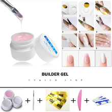 3 COLOR poly gel Builder Gel Kit UV Gel Polish Forms for Nail Extension
