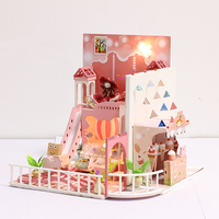 DIY Doll House Minature Dollhouse Casa Wooden Villa Model With Furnitures Building Christmas Gift Toys For Children K029 #EE
