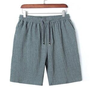 Image 5 - Mens Big Shorts Plus Size 11XL 12XL 13XL 14XL Summer Linen Large Stretch Sports Casual Loose 60 Black Shorts