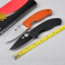 Two color C122 58HRC MeisaiG10handle black blade survival folding knife outdoor camping tools tactical knives EDC handle tool
