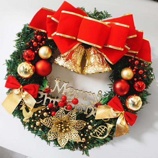 christmas ball bell garland merry christmas wreath door wall