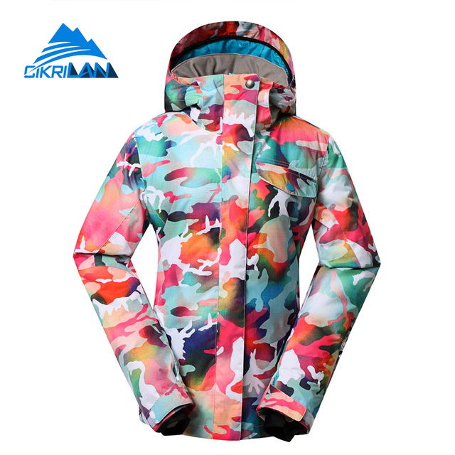 b7cee149447 Colorful Winter Sonw Water Resistant Chaquetas Mujer Warm Outdoor Sport  Windstopper Ski Jacket Women Snowboarding Padded Coat