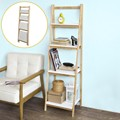 SoBuy FRG162-N, 4 Tiers Faltbare Leiter Regal Bücherregal Lagerung Display Regal