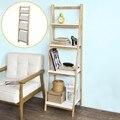 SoBuy FRG162-N, 4 Tiers Opvouwbare Ladder Plank Boekenkast Opslag Display Rekken Unit