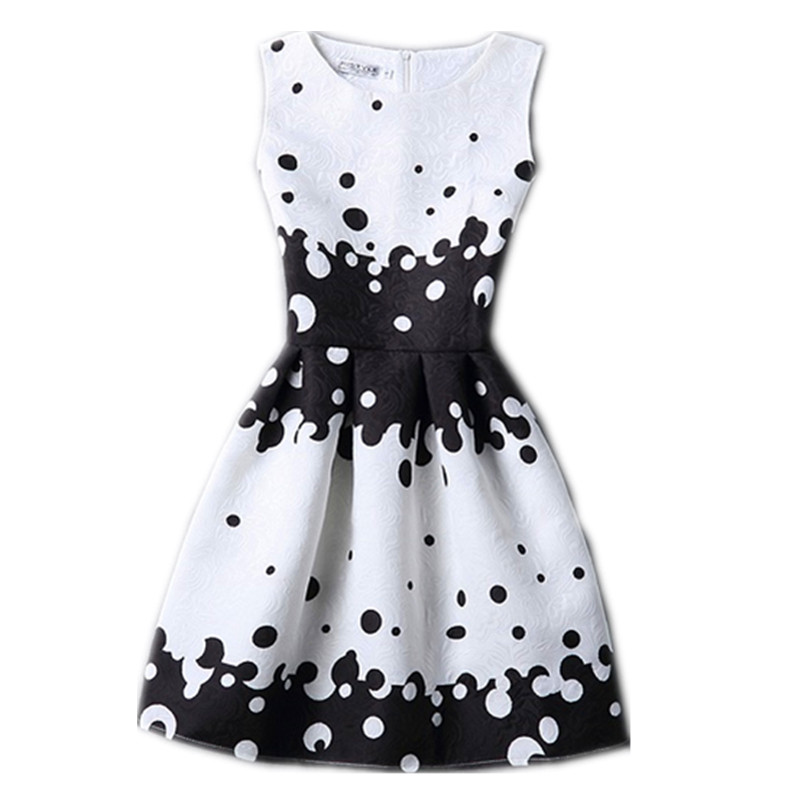 Лето новый стиль Высокого класса день рождения вечеринок повседневные платья бабочка печати рукавов 12-20Y девушки одеваются