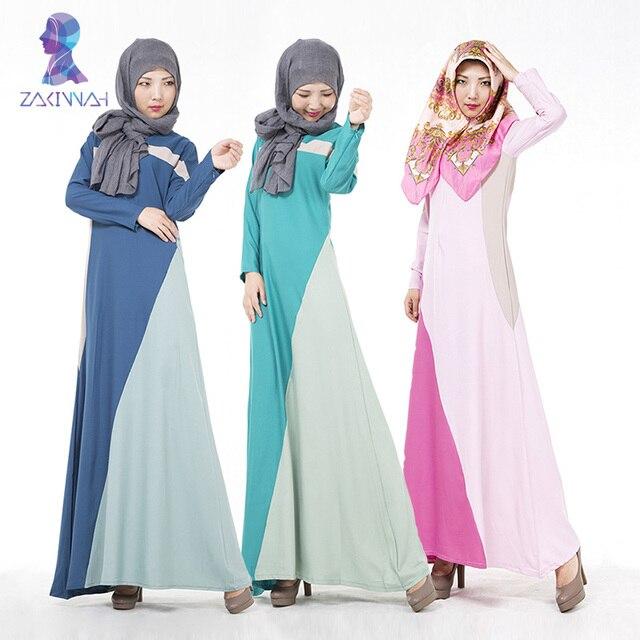 604 бесплатная доставка кафтан платье vestidos musulmanes розовый цвет совместное vestidos jilbab мусульманской абая джилбаба исламская одежда для женщин