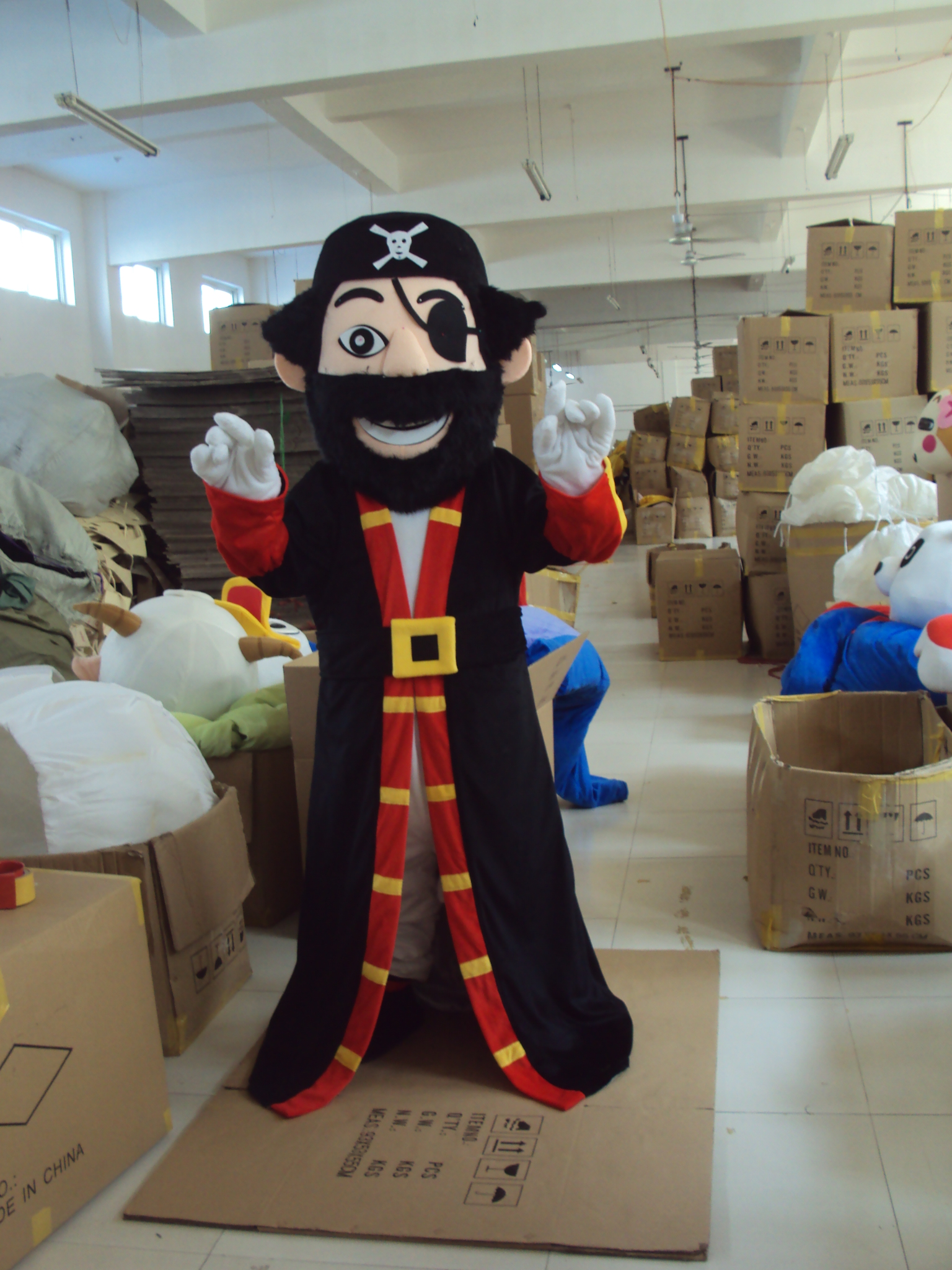 Pirate Captain mascot costume hot sale Halloween cartoon character fancy dress carnival costume Cosplay Outfits Adult Size