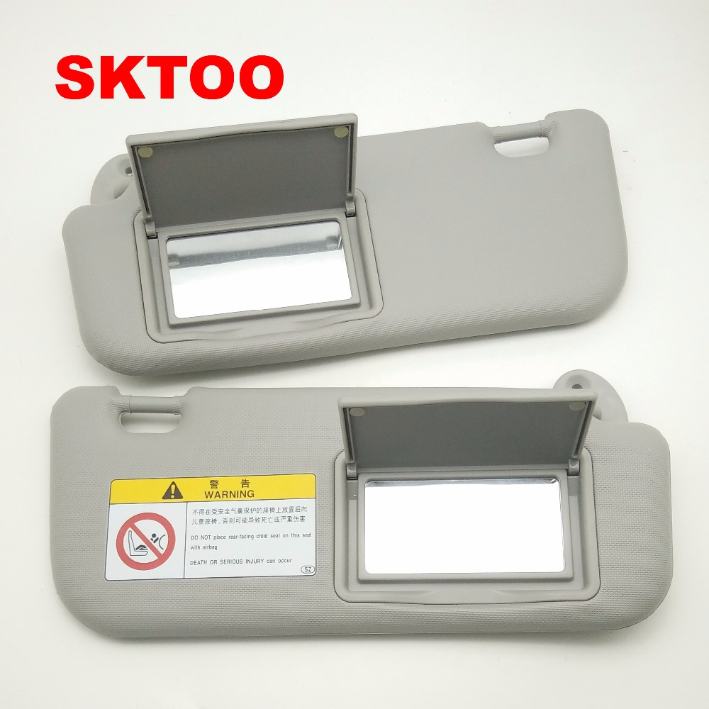 SKTOO Auto accessories sun visor for Toyota Corolla 2014-2017 with a make-up mirror sun visor 74320-02B21 74310-02K91