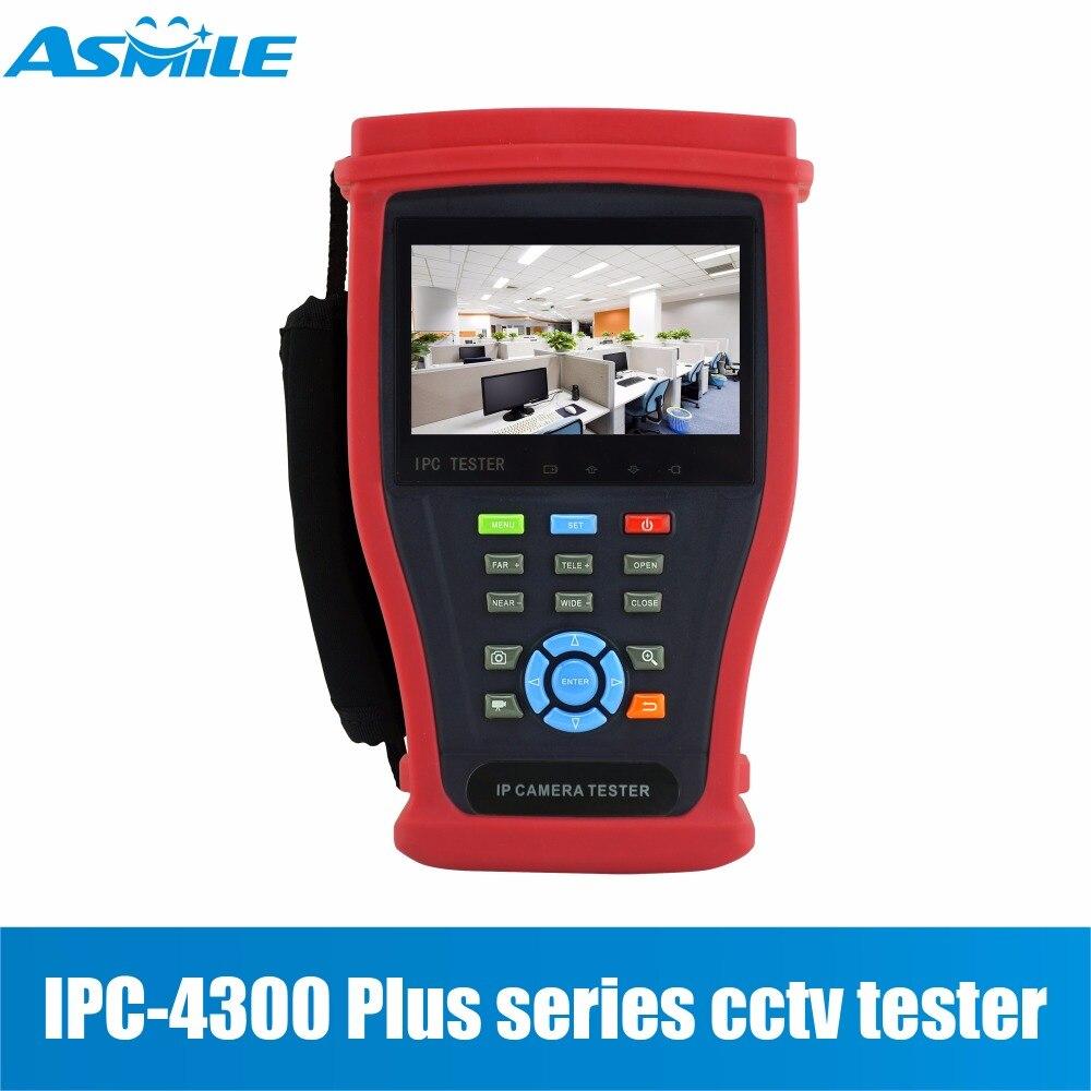 IPC4300Plus 4.3 IPS H.265/H.264 4K IP Camera Tester 8MP TVI CVI 5MP AHD SDI Camera CCTV Tester Monitor with UTP/RJ45 test