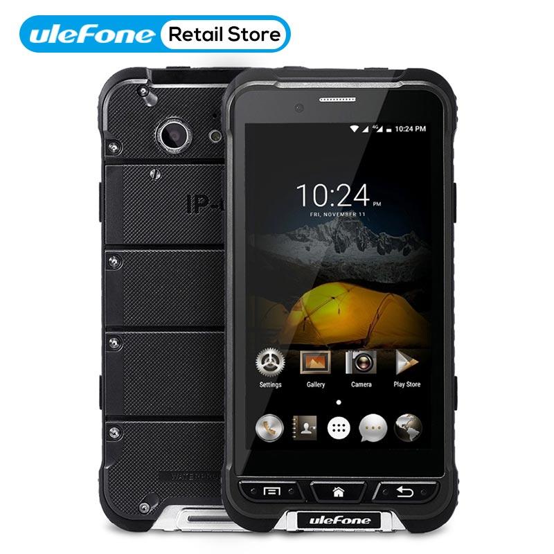 D'origine Ulefone Armure Étanche Robuste Smartphone MTK6753 Octa base Android 6.0 Mobile Téléphone 4.7 pouce 3g RAM 32g ROM IP68 OTG