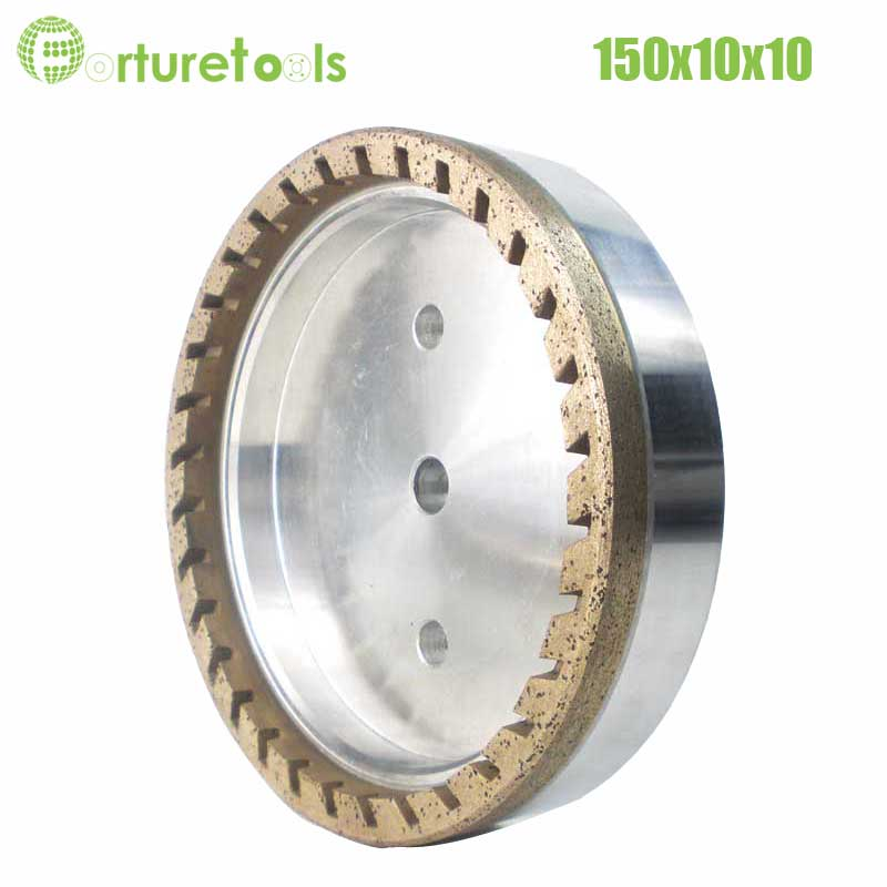 1pc internal half segment 2# diamond wheel for glass straight line double edger Dia150x10x10 hole 12/22/50 grit 150 180 BL008 4 inch 6 inch straight cup diamond grinding wheel for glass edger straight line double edging beveling machine m009 page 5