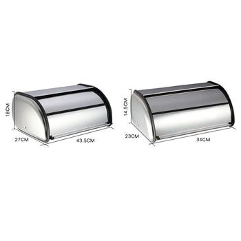 Contenedores De Almacenamiento De Metal   Caja De Metal Para Pan Bin Cocina Los Contenedores De Almacenamiento De Cocina Con Rollo Tapa QP2