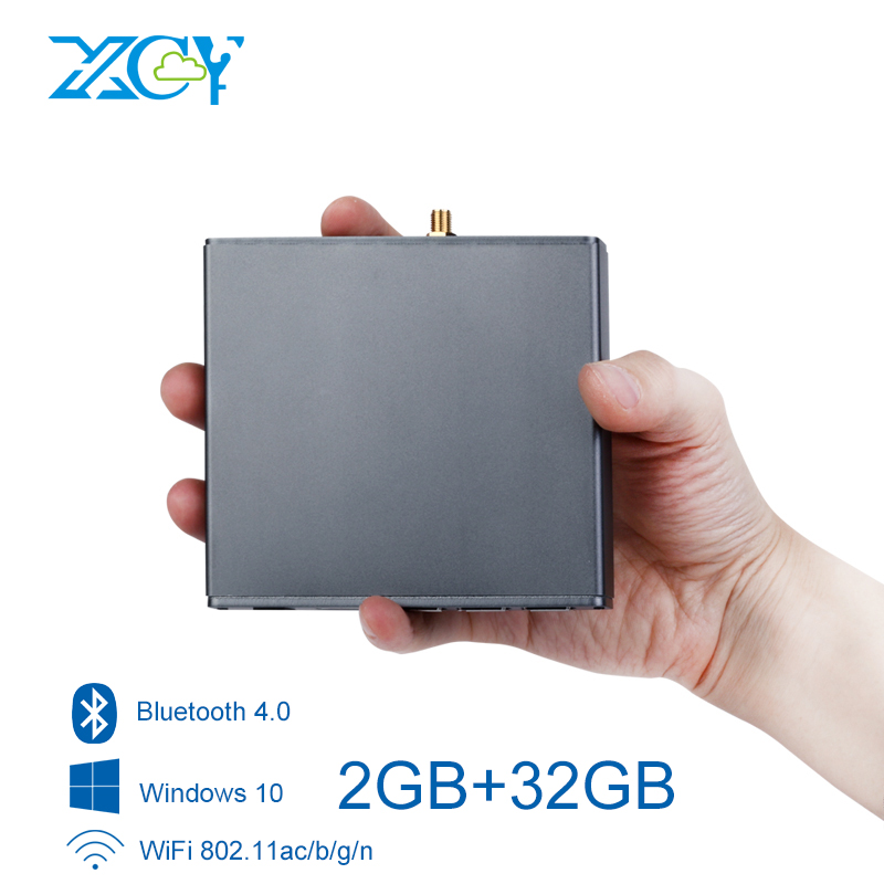 Mini PC Intel Atom x5-Z8300 Windows 10 2GB RAM 32GB ROM WiFi Bluetooth 5xUSB HDMI TF Card Pocket PC TV Box Fanless