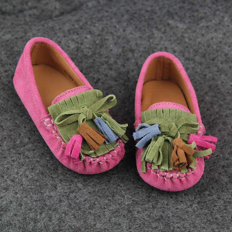 2016 spring kids shoes girls shoes fashion retro tassel single shoes girls comfortable casual flat girls dress shoes