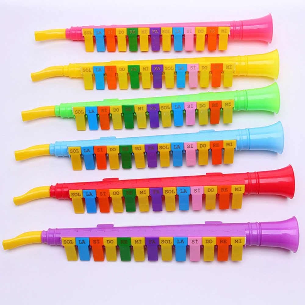 Красочные пластиковые 13 ключ оральный орган дуя трубки Развивающие головоломки игрушки дети ребенок обучения Музыкальные инструменты