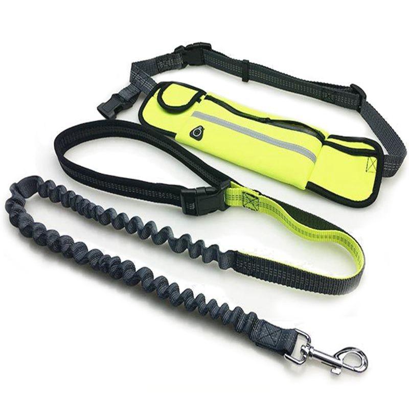 Pet Hands Free Elastic Dog Leash Nylon Running Elastic Leash For Dog Jogging Waist Pouch Bag Walking Sport Adjustable