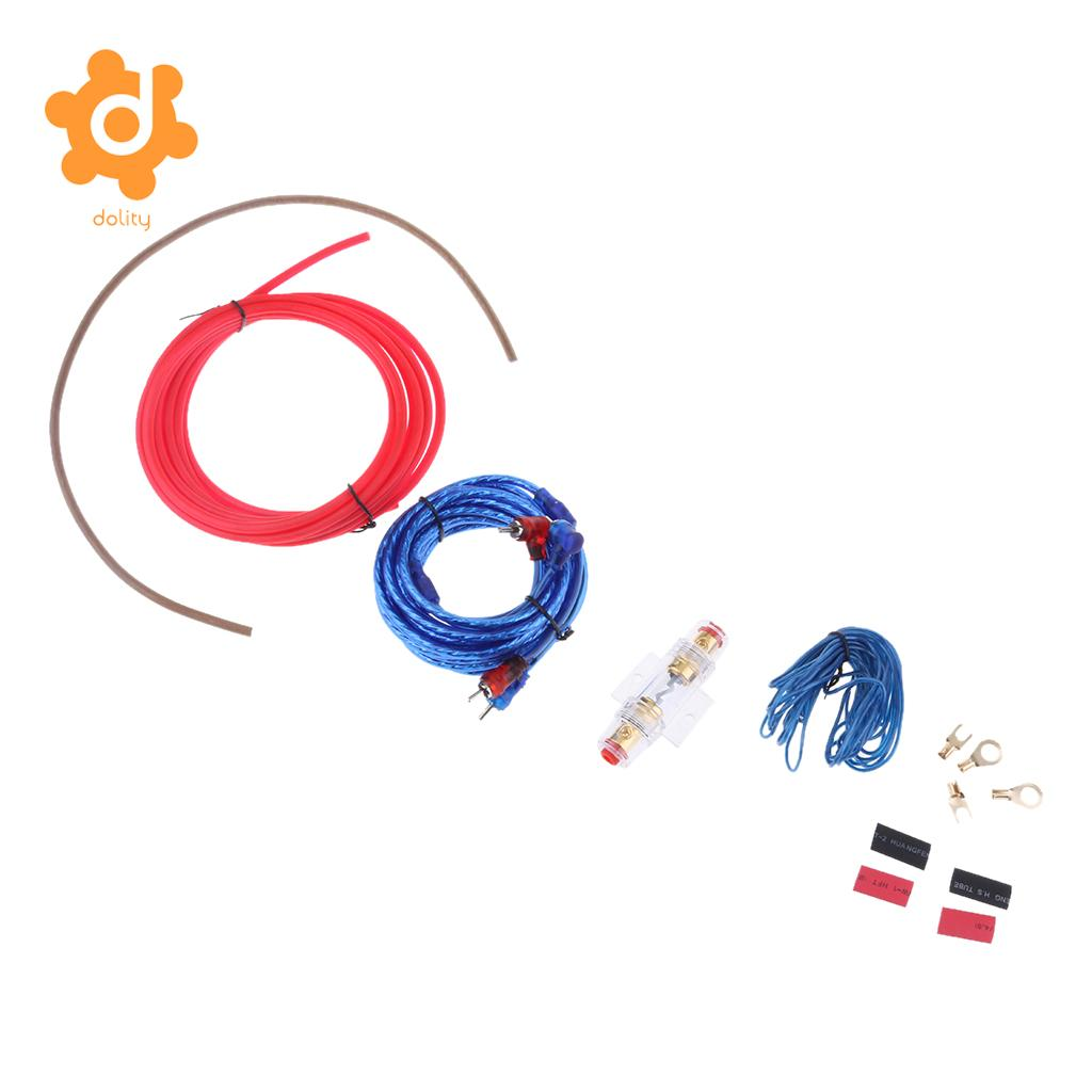 dolity Car Audio Amplifier Cable Speaker 10GA Wiring Kits with 60 AMP Fuse Holder