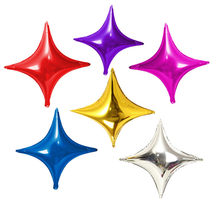 5pcs/lot 10-inch small four-pointed star aluminum balloon birthday party decorated aluminum foil star balloon decorations(China)