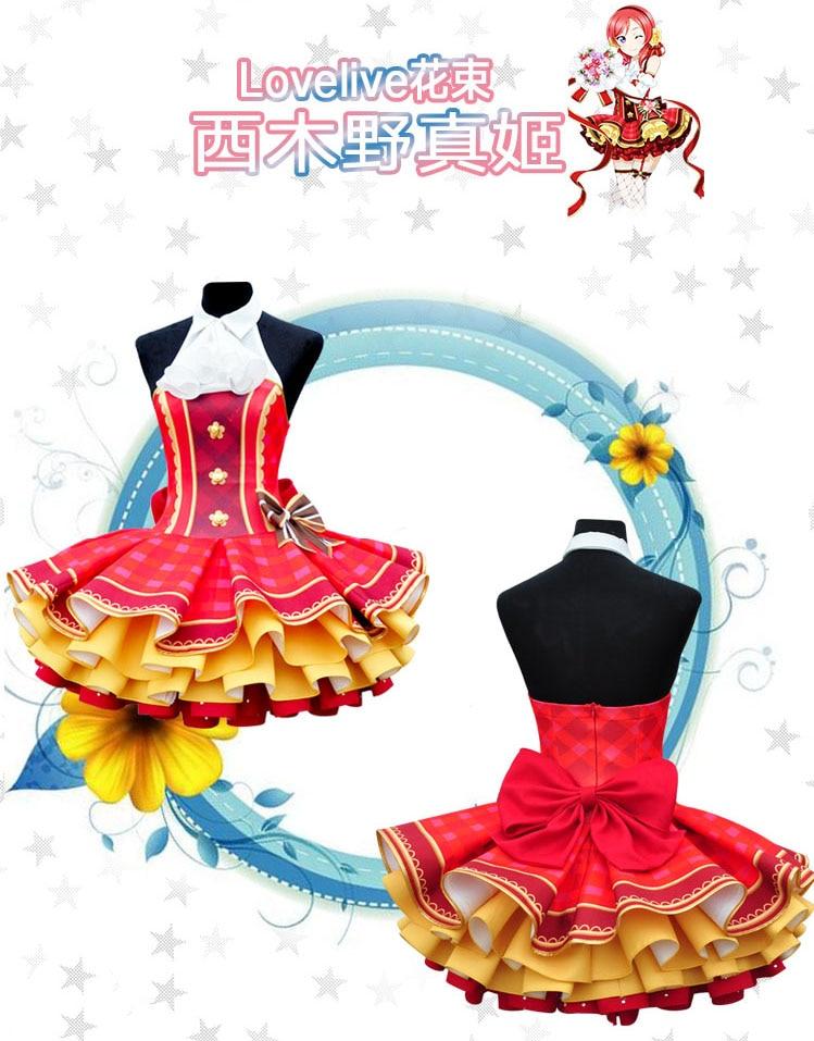 Love Live! Cyber Idolized LED Gaming Game Awaken All Members Maki Nishikino Dress cosplay costume with shine customize CM130