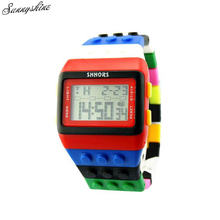 Vogue Girls males Watches Colourful Plastic Digital Unisex Clock Wrist Watch wholesale