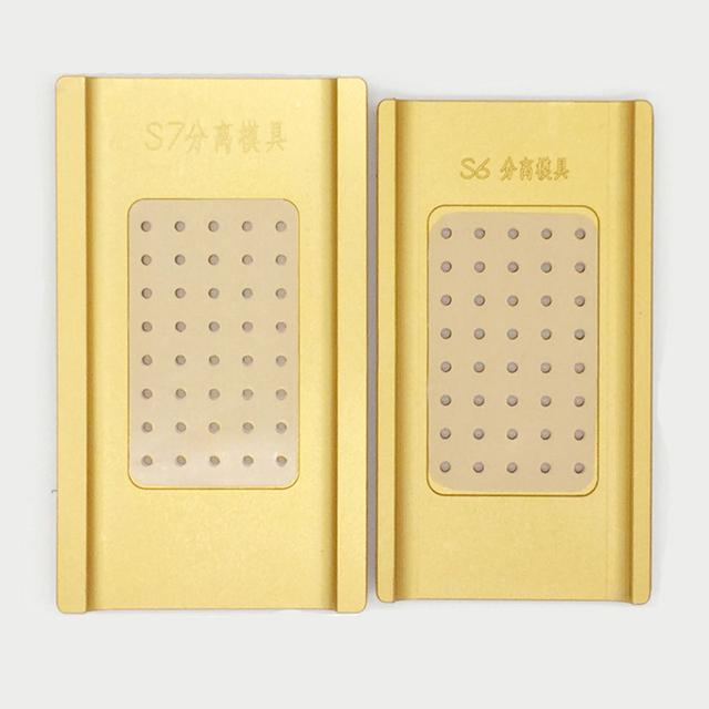 Tela de toque lcd separador de estratificação borda alinhamento molde para samsung s6 edge plus s7 lcd reparação separador máquina refubish