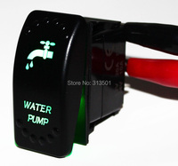 Good Quality Marine Boat Car Accessories WATER PUMP Green Led Light SPST ON/OFF 5 Pin DC12V 24VRocker Switch