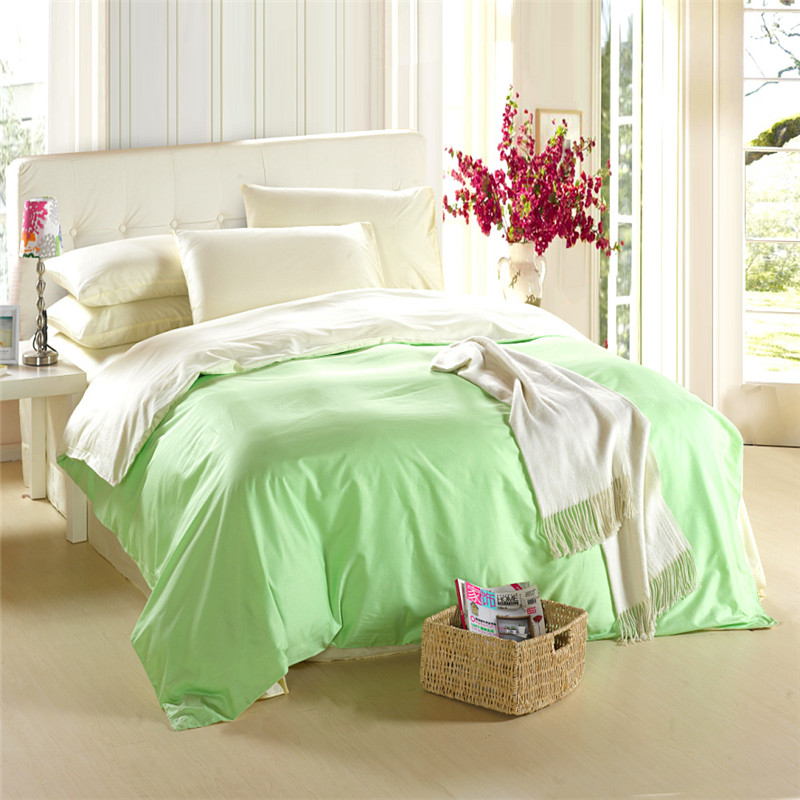king size green bedding set queen quilt doona duvet cover double beige bed in a bag sheets linen. Black Bedroom Furniture Sets. Home Design Ideas