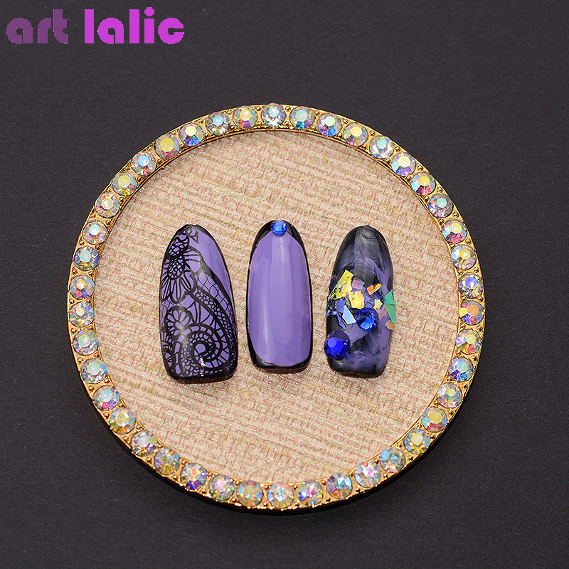 1PC Mini Rhinestones False Nail Art Plate Tips Display Stand Rack Board Cotton Palette Nail Polish Gel Display Showing Tools