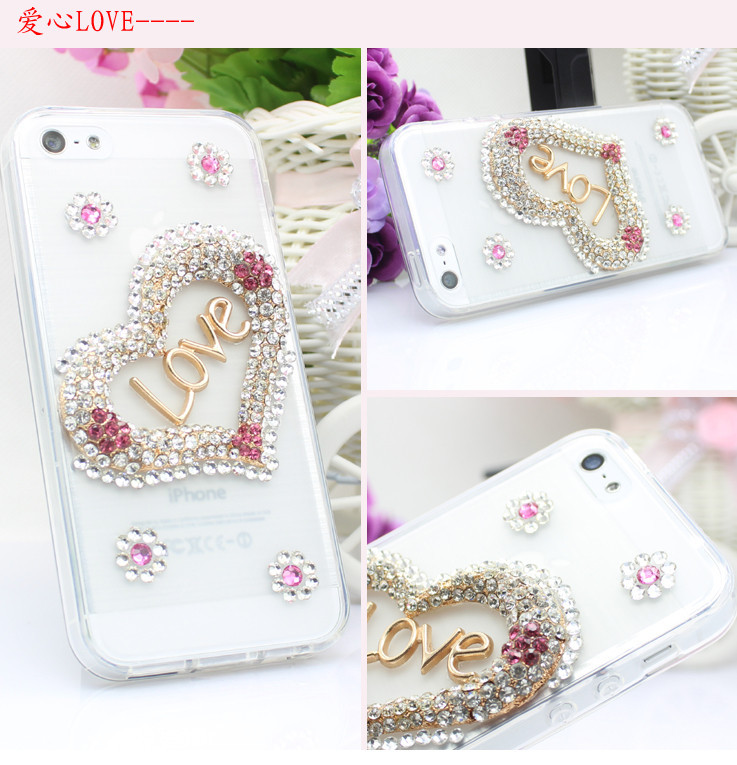 For Huawei P7 case rhinestone mobile phone cases Transparent case protective cover colorful glossy case 8
