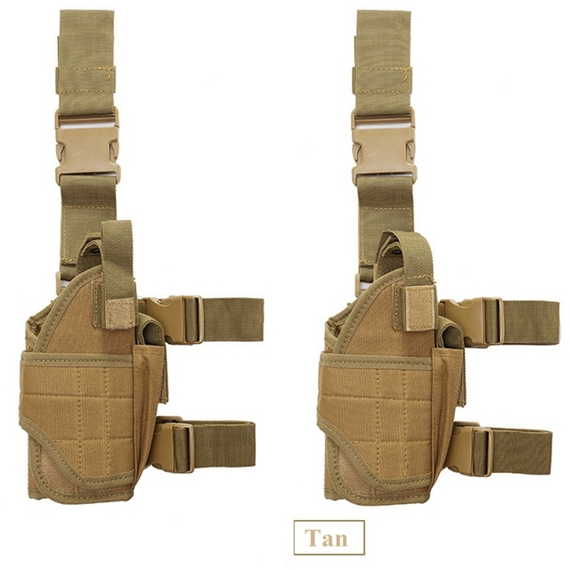 Right Drop Leg Adjustable Tactical Army Pistol Gun Thigh Holster Pouch Holder for Glock 17 19 31 32 most pistol 3
