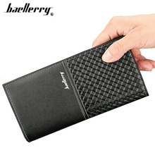 2019 Baellerry Men Wallets Long Fashion Card Holder Plaid Open Wallet For Cell Phone Coin Pocket Simple Smart Male Purse