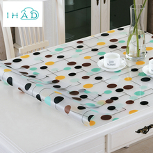 Soft Glass PVC Tablecloth 1mm Thick Pattern Waterproof oil Anti-hot Table cloth High Quality Kitchen Home Coffee Mat Table Cover