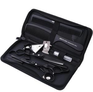Image 2 - Smith Chu 高品質切断はさみ 6 インチ 440C ステンレス鋼プロのサロン理髪店間伐はさみヘアはさみセット