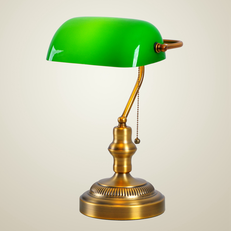 American retro classic office desk lamp table lamp bedroom den green american retro classic office desk lamp table lamp bedroom den green cover of old shanghai bank of the republic of taiwan lighti in metal halide lamps from aloadofball