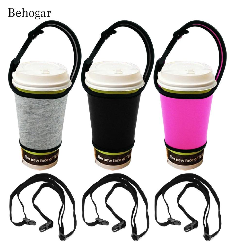 0.97US $ 50% OFF Behogar Reusable Bottle Sleeve Carrier Holder Cover w/Buckle Handle Adjustable Shou...