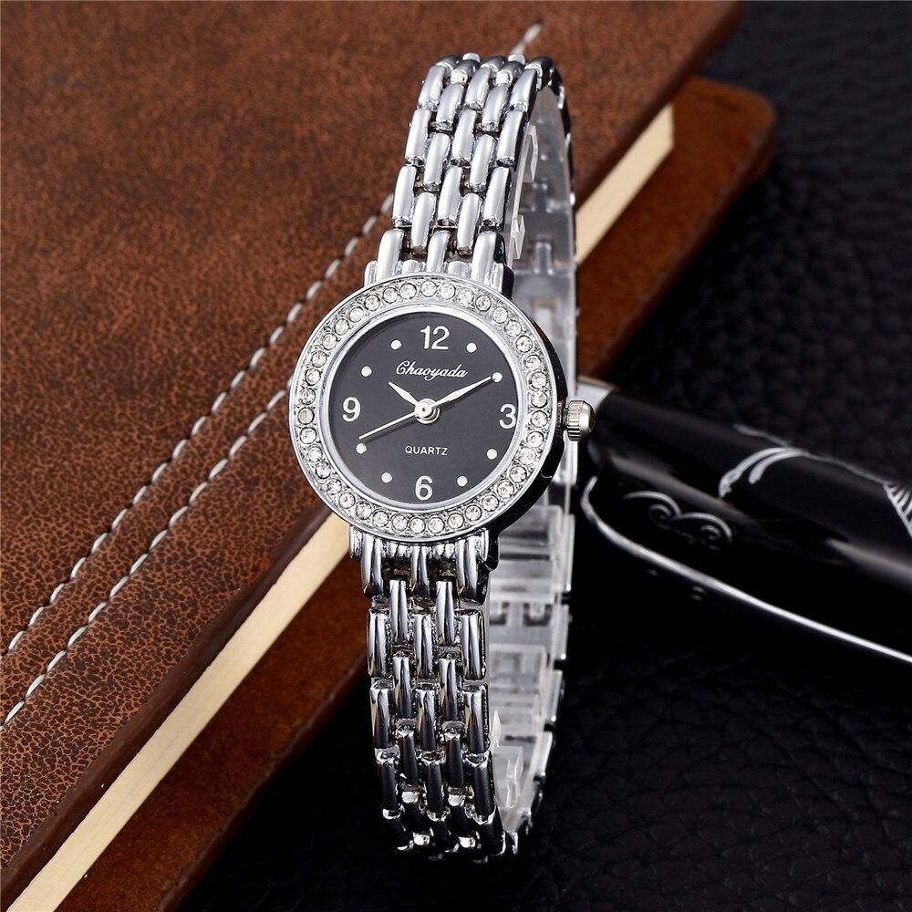 04d4946485e9 Mujeres de la marca de lujo reloj de plata inoxidable Seel dama de la moda  comercial relojes vestido de la manera reloj ceasuri Relogio feminino