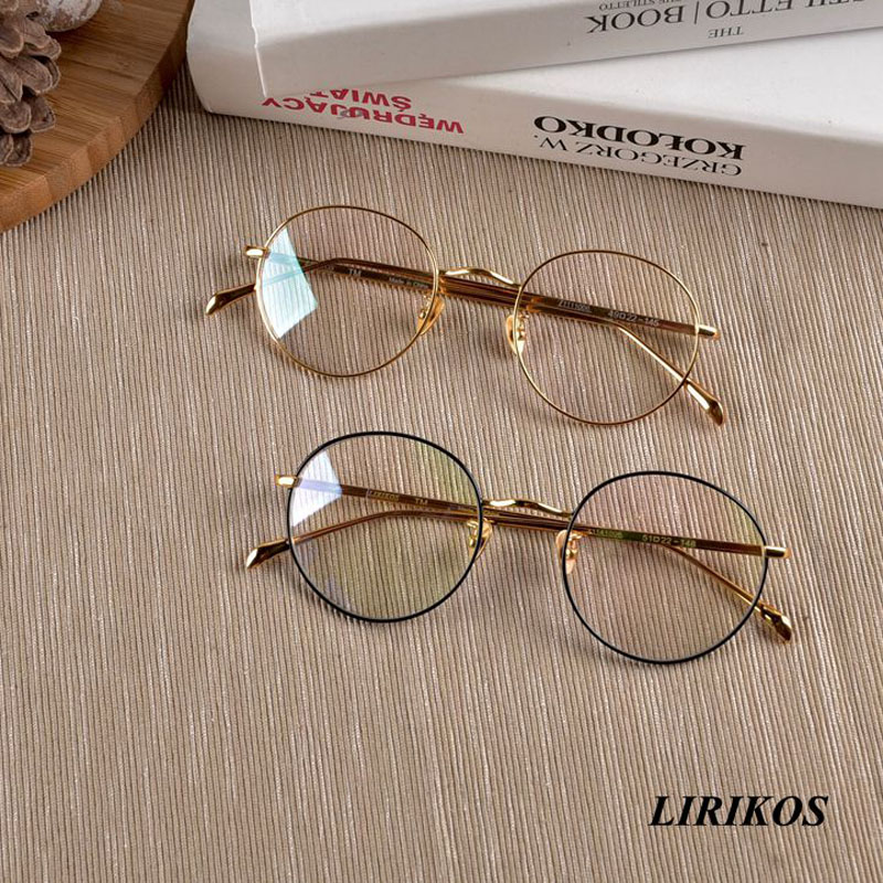 LIRIKOS Pure Titanium granny chic Anti Corrosion Fashionable Women Reading Rounded Glasses in Men 39 s Eyewear Frames from Apparel Accessories
